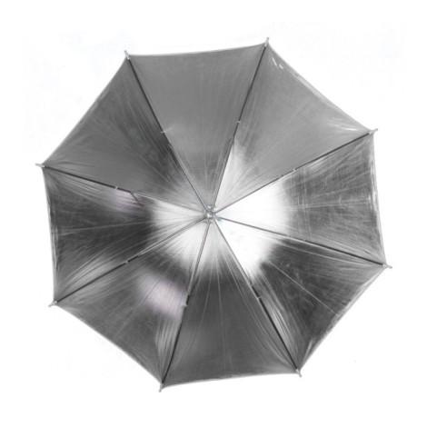 Parasolka srebrna  84cm