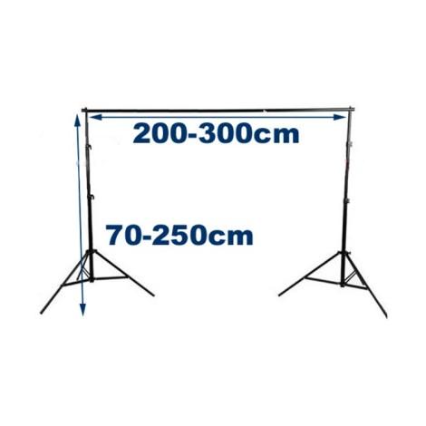 Zestaw L do mocowania tła 200-300cm