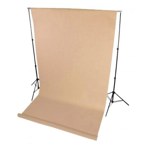 Tło fotograficzne na tulejce 1.6 x 5m Beżowe